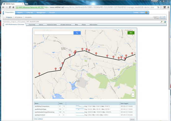 Pipeline monitoring screenshot