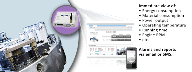 Remote monitoring of industrial machinery