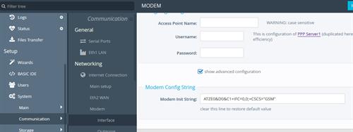 modem-init-string
