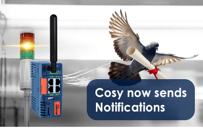 Cosy now sends notifications