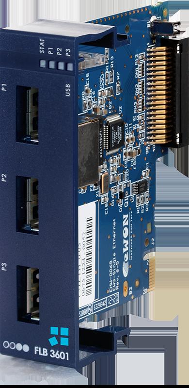 Ewon extension card - FLB 3601 - 3 USB ports