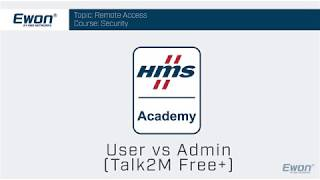 1 - Talk2M Free+ Security - User vs Admin