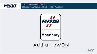 2 - Talk2M - Add an eWON device