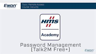 2 - Talk2M Free+ Security - Password Management