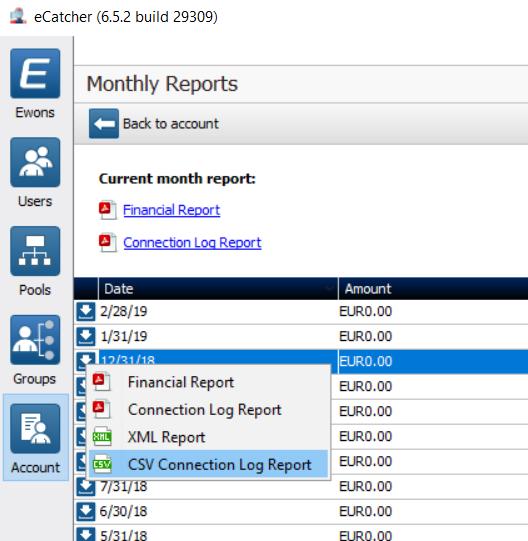 eCatcher Report