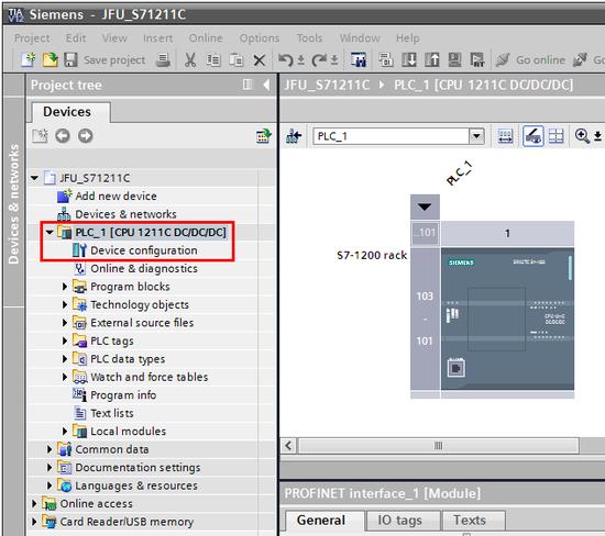 Siemens - TIA Portal - Software configuration - Step 1