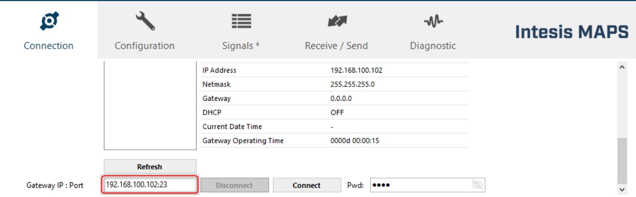 connect remotely wuth Intesis MAPS through a VPN