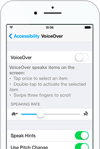 Voice over function