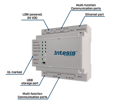 Intesis gateway with features