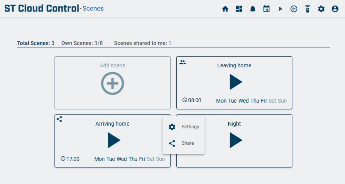 Share scene - ST cloud control