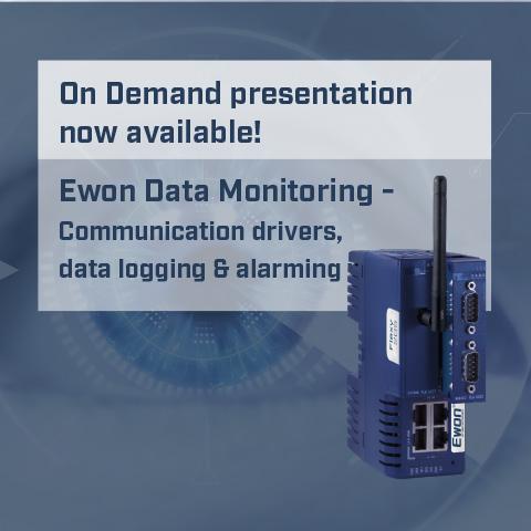 Ewon Data Monitoring - Communication drivers, data logging & alarming