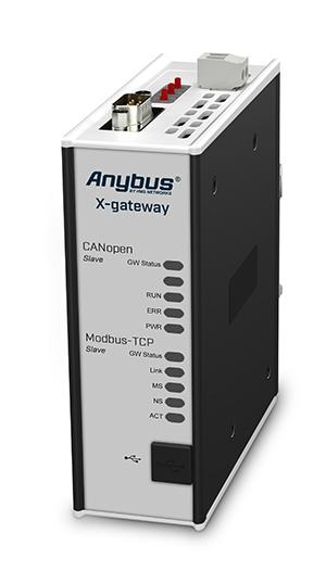 Anybus X-gateway CANopen Slave - Modbus TCP Server