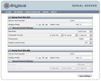 Configure the Serial Server