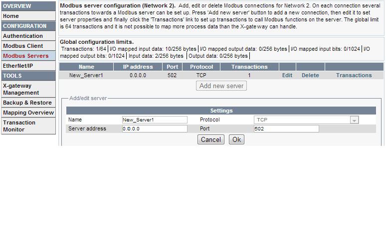 MTCP-server-config